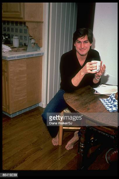Of Apple Steve Jobs sits at his kitchen at home in Woodside, CA on December 15, 1982. IMAGE PREVIOUSLY A TIME & LIFE IMAGE.