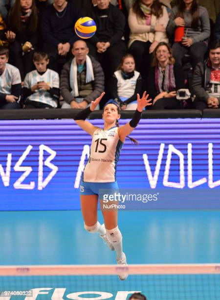 of Argentina during FIVB Volleyball Nations League match between Argentina and Serbia at the stadium of the technological university of the littoral...