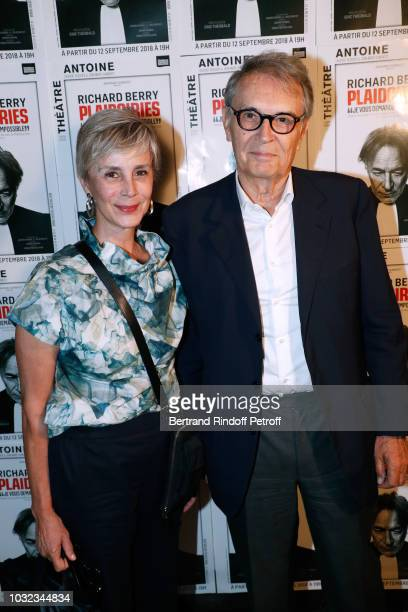 CEO of Artmedia Bertrand de Labbey and his wife Marcia attend the Plaidoiries Theater Play Runthrough at Theatre Antoine on September 12 2018 in...