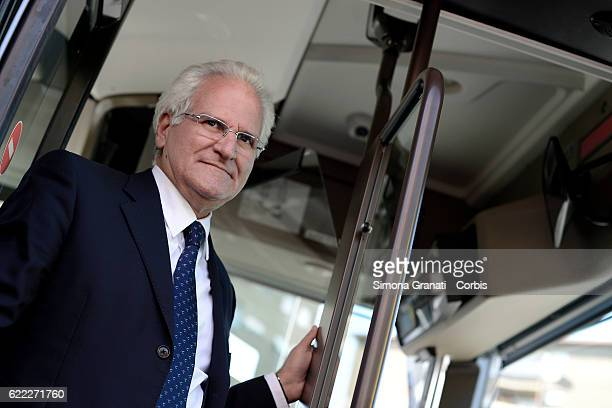 CEO of ATAC Manuel Fantasia during the presentation of the first 25 of 150 new buses purchased from the Capitolon November 9 2016 in Rome Italy