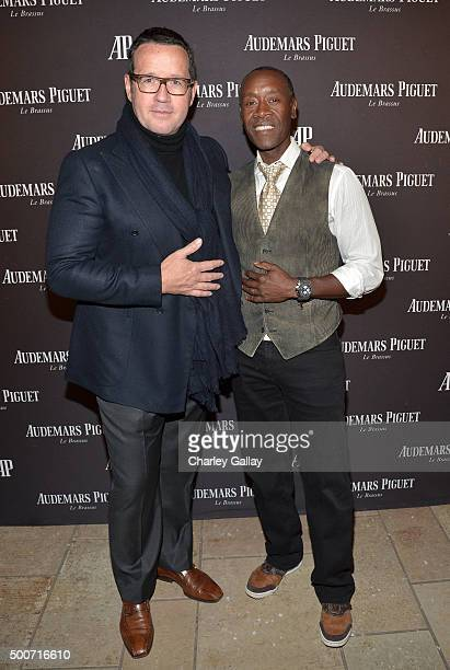 CEO of Audemars Piguet FrancoisHenry Bennahmias and actor Don Cheadle attend the Opening of Audemars Piguet Rodeo Drive at Audemars Piguet on...