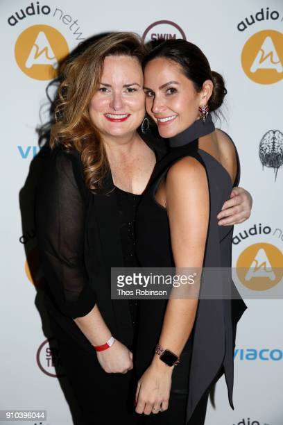 GM of Audio Networks MaryLiz McDonald and Amber Milt attend Audio Network Grammy Nominee Party on January 25 2018 in New York City