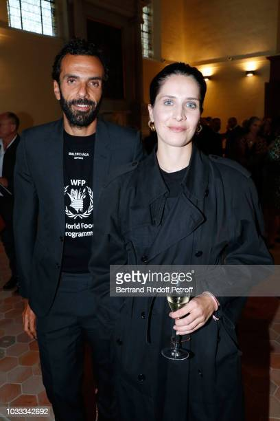 CEO of Balenciaga Cedric Charbit and Martina Tiefenthaler attend the Kering Heritage Days Opening Night at 40 Rue de Sevres on September 14 2018 in...