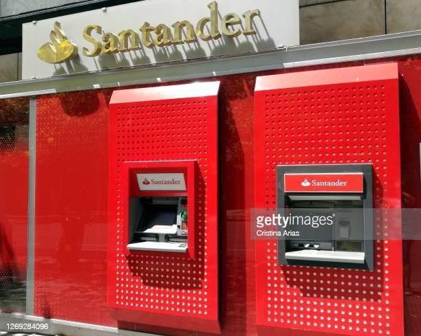 Of Banco de Santander in the street, Madrid, Spain.