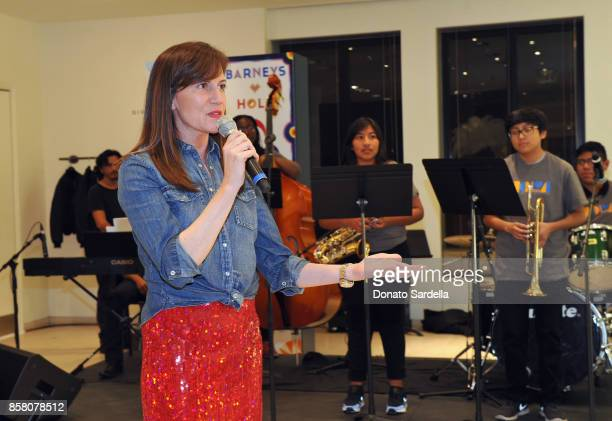 CEO of Barneys New York Daniella Vitale speaks at a Cocktail Event in support of HOLA Heart of Los Angeles hosted by Barneys New York at Barneys New...