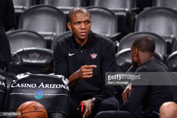 VP of Basketball Operations James Jones of the Phoenix Suns looks on before the game against the Minnesota Timberwolves on December 15 2018 at...