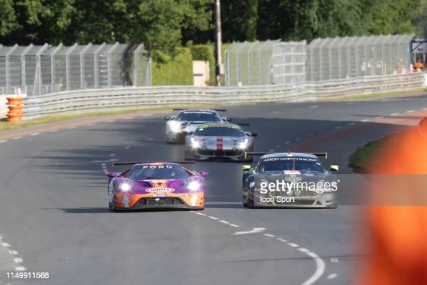 Of Ben KEATING , Jeroen BLEEKEMOLEN , Felipe FRAGA during the 24h du Mans on June 13, 2019 in Le Mans, France.