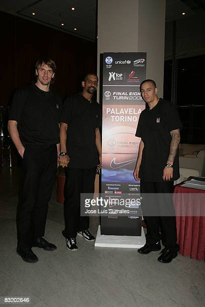 of Besiktas Cola Turka Sandro Nicevic#6 Preston Shumpert and Rick Jason Apodaca arriving to hotel Le Meridien in the ULEB Cup Final 8 will play at...