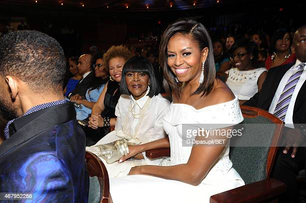 """Of BET Networks Debra Lee, actress Cicely Tyson, and US First Lady Michelle Obama attend the """"Black Girls Rock!"""" BET Special at NJPAC – Prudential..."""