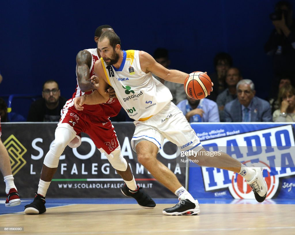 DELAS of Betaland during the LBA Serie A Postemobile Match Between Betaland Capo D'Orlando and EA7 Armani Milano on October 15, 2017 at Palasikeliarchivi in Capo D'orlando, Italy.