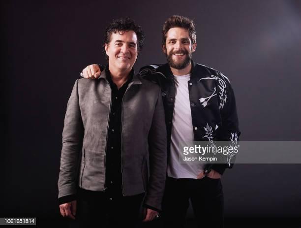 CEO of Big Machine Label Group Scott Borchetta and Thomas Rhett attend Big Machine Label Group Celebrates the 52nd Annual CMA Awards in Nashville at...