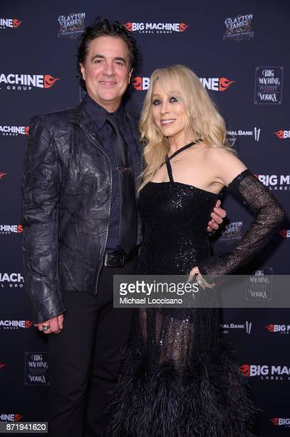 CEO of Big Machine Records Scott Borchetta and BMLG's Sandi Spika Borchetta attend the Big Machine Label Group's celebration of the 51st Annual CMA...