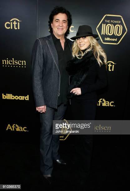CEO of Big Machine Records Scott Borchetta and SVP of Big Machine Label Sandi Spika Borchetta attend 2018 Billboard Power 100 List at Nobu 57 on...
