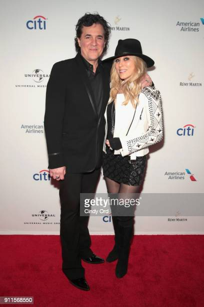 CEO of Big Machine Records Scott Borchetta and SVP of Big Machine Label Sandi Spika Borchetta attend the Universal Music Group's 2018 After Party to...