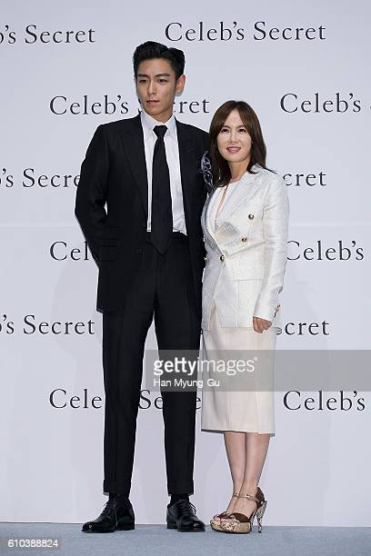 of Bigbang and han GyuRi of makeup artist attend the 'Celeb's Secret' Launch Photocall on September 22 2016 in Seoul South Korea
