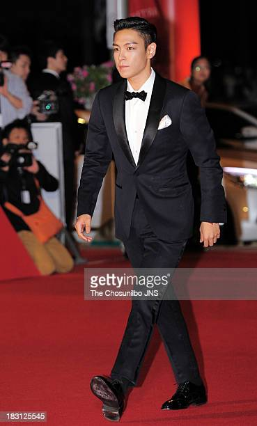 P of Bigbang arrives for the opening ceremony of the 18th Busan International Film Festival at Busan Cinema Center on October 3 2013 in Busan South...