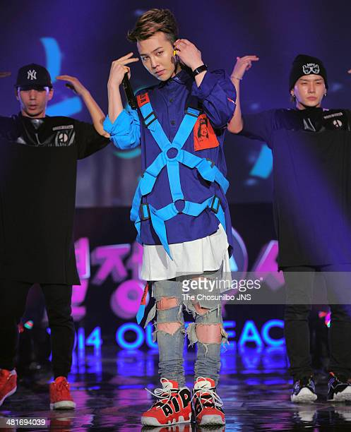 DRAGON of BigBang performs onstage during the Samsung 2014 Outreach Concert at Jamsil Gymnasium on March 27 2014 in Seoul South Korea