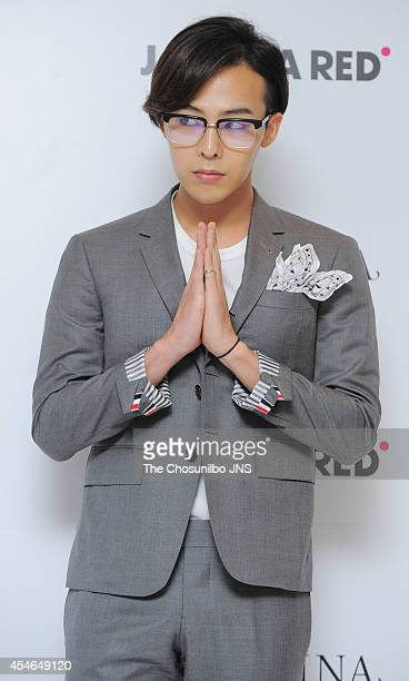 DRAGON of BigBang poses for photographs during the JESTINA 'One Door Two Wonder' FW presentation at State Tower on September 3 2014 in Seoul South...