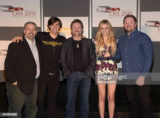 CEO of Black River Entertainment Gordon Kerr poses backstage with artists John King Craig Morgan Kelsea Ballerini and Josh Osborne during the 3rd...