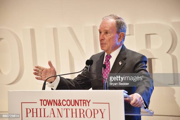 CEO of Bloomberg LP Michael Bloomberg speaks during the 4th Annual Town Country Philanthropy Summit at Hearst Tower on May 9 2017 in New York City