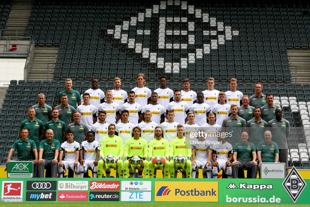 of Borussia Moenchengladbach poses during the team presentation at Borussia Park on July 28, 2017 in Moenchengladbach, Germany.
