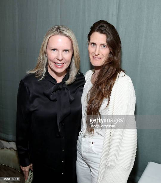 CEO of Brew Media Relations Dena Cook and guest attend GLG Social Impact Dinner At Milken at Cecconi's on April 30 2018 in West Hollywood California