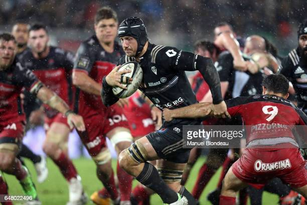 XXXXX of Brive and XXXX of Toulon during the French Top 14 match between Brive and Toulon on March 4 2017 in Brive France