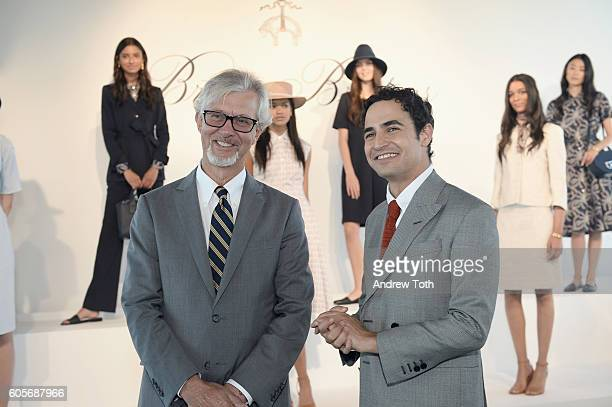 CEO of Brooks Brothers Claudio Del Vecchio and designer Zac Posen attend the Brooks Brothers SS 2017 Presentation during New York Fashion Week with...