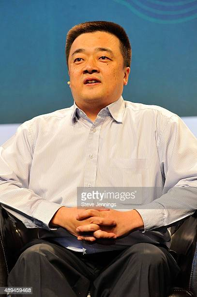 CEO of BTC China Bobby Lee speaks onstage during day one of TechCrunch Disrupt SF 2015 at Pier 70 on September 21 2015 in San Francisco California