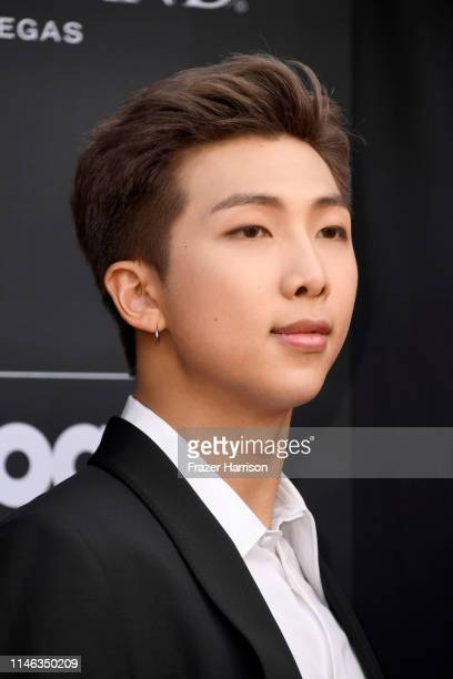 RM of BTS attends the 2019 Billboard Music Awards at MGM Grand Garden Arena on May 01 2019 in Las Vegas Nevada