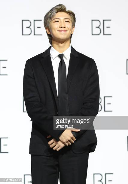 Of BTS during BTS's new album 'BE ' release press conference at Dongdaemun Design Plaza on November 20, 2020 in Seoul, South Korea.