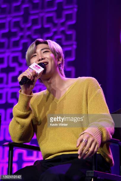 RM of BTS onstage at iHeartRadio LIVE with BTS presented by HOT TOPIC at iHeartRadio Theater on January 27 2020 in Burbank California