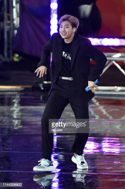 RM of BTS performs on Good Morning America on May 15 2019 in New York City