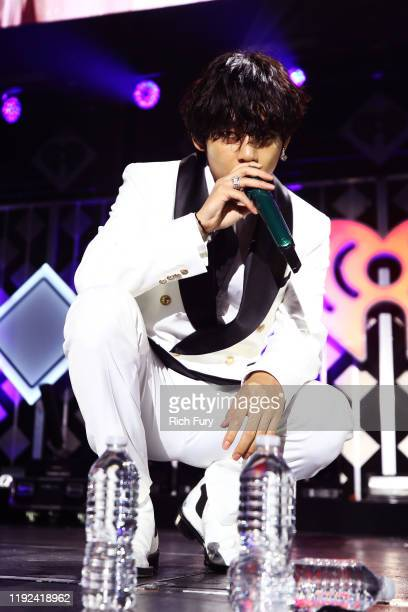 V of BTS performs onstage during 1027 KIIS FM's Jingle Ball 2019 Presented by Capital One at the Forum on December 6 2019 in Los Angeles California