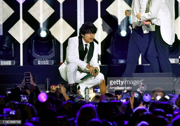 V of BTS performs onstage during KIIS FM's Jingle Ball 2019 presented by Capital One at The Forum on December 06 2019 in Inglewood California