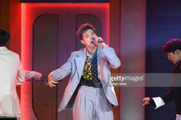 Of BTS performs onstage during the 2019 Billboard Music Awards at MGM Grand Garden Arena on May 1, 2019 in Las Vegas, Nevada.