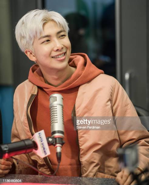 RM of BTS visits The Elvis Duran Z100 Morning Show at Z100 Studio on April 12 2019 in New York City