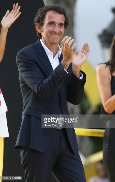 CEO of Carrefour Alexandre Bompard during the podium ceremony following stage 21 of Le Tour de France 2018 between Houilles and Paris avenue des...