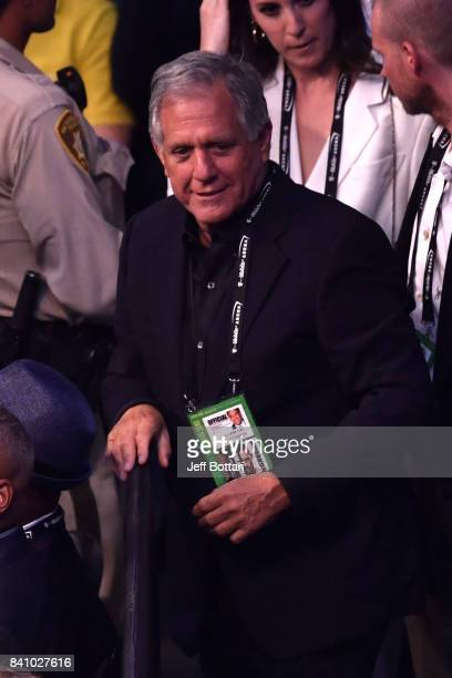 CEO of CBS Corporation Leslie Moonves attends the super welterweight boxing match between Floyd Mayweather Jr and Conor McGregor on August 26 2017 at...