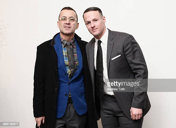 CEO of CFDA Steven Kolb and Alejandro Ingelmo attend the Alejandro Ingelmo presentation during New York Fashion Week Fall 2014 at Robert Miller...