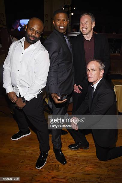 CEO of Chameleon Entertainment Breyon Prescott actor Jamie Foxx CEO of RCA Records Peter Edge and president and COO of RCA Records Tom Corson Sony...