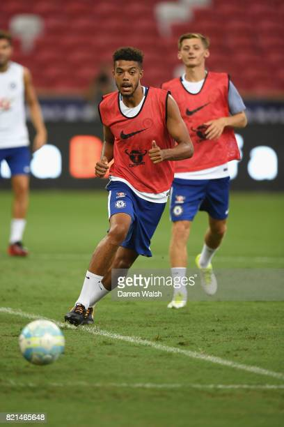 Of Chelsea during a training session at Singapore National Stadium on July 24, 2017 in Singapore.