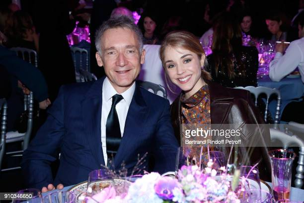 CEO of Chloe Geoffroy de la Bourdonnaye and Alice Isaaz attend the 16th Sidaction as part of Paris Fashion Week on January 25 2018 in Paris France