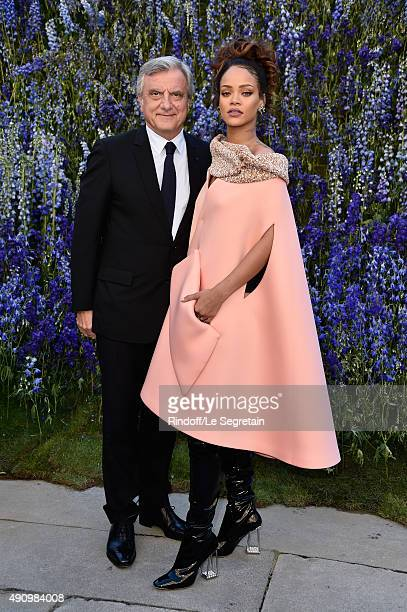Of Christian Dior Sidney Toledano and Singer Rihanna attend the Christian Dior show as part of the Paris Fashion Week Womenswear Spring/Summer 2016...