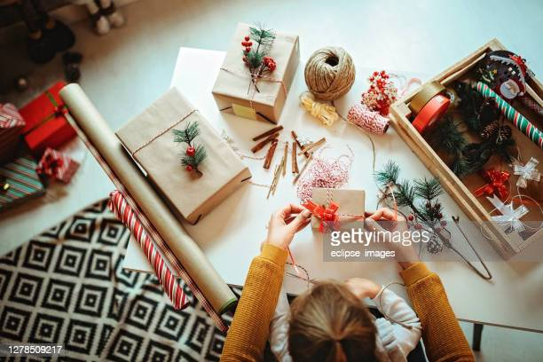 diy of christmas gifts at home - craft stock pictures, royalty-free photos & images