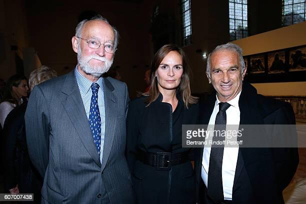 CEO of Cinema Gaumont Nicolas Seydoux Cesar Academy President Alain Terzian and his wife Brune de Margerie attend the 4O Rue de Sevres Preview at the...