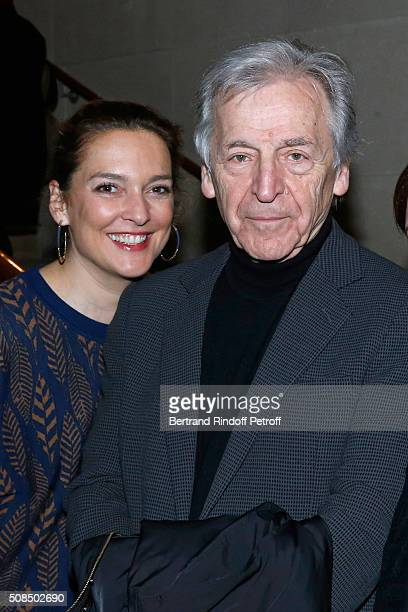 of Cinematheque Francaise Elodie Dufour and President of Cinematheque Francaise Constantin CostaGavras attend JeanPaul Belmondo presents the 'Leon...