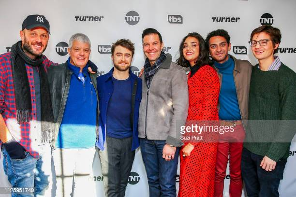 VP of Comedy at TBS Thom Hinkle President of Turner David Levy actor Daniel Radcliffe EVP of Original Programming at TBS Brett Weitz actors Geraldine...