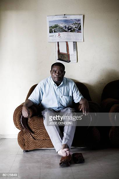 MOINDJIE MP of Comoros and presidential candidate for the island of Anjouan Mohamed Djaanfari poses for the picture at his home 04 March 2008 in...