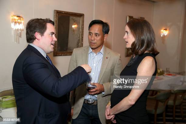 CEO of Concordia Matthew Swift Art delaCruz and GLG Director Jennifer Field attend GLG Social Impact Dinner At Milken at Cecconi's on April 30 2018...